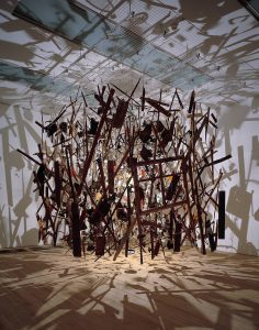 Cold Dark Matter: An Exploded View 1991 Cornelia Parker born 1956 Presented by the Patrons of New Art (Special Purchase Fund) through the Tate Gallery Foundation 1995 http://www.tate.org.uk/art/work/T06949
